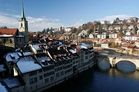 Scenic View of City Town Center _ Bern Switzerland