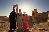 Women of Palmyra, Syria, Low Angle View