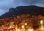 Monaco by cloudy sunset