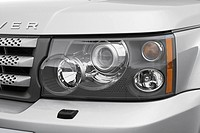 2007 Land Rover Range Rover Sport Supercharged in Silver - Headlight