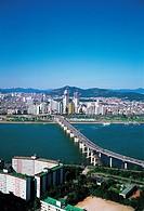 Cheongdamdaegyo Bridge,Hangang River,Gwangjin-gu,Seoul,Korea