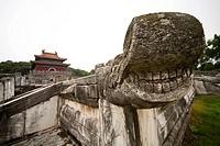 Ming Dynasty Xian Tomb, Zhongxiang, Jingmen, Hubei Province, China.