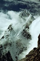 : Clouds envelop Lobuche Peaks in Sagarmatha National Park.