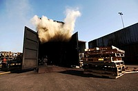 Port of Rotterdam, Maasvlakte, Falck Risc Fire and Safety Training Facility, controlled flashover simulation and training