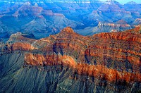 grand canyon south rim america usa shot at dusk sunset with foreground interest