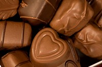 Close_up of chocolates, full frame