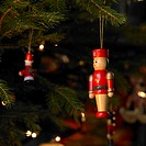 Close-up of christmas tree decoration