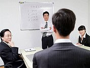 Businesspeople in meeting