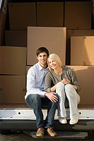 Couple and removals van