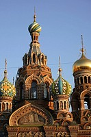 Russia, St Petersburg, Church of the Resurrection Church on Spilled Blood