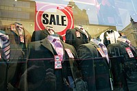 Sale in a suit shop