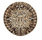 World symbols: Aztec calendar South America