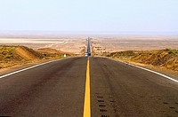 China, Xinjiang, road, perspective