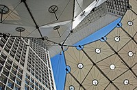 Detail of la Grande Arche de la Defense, Paris, France