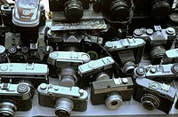 Yerevan, Armenia: old cameras sold at the Vernissage market