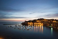 Italy, Liguria, Sestri Levante, Twilight