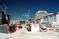 USA, Nevada, Las Vegas, View of construction site