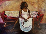 Red Couch 2004 Marsha Hatcher b.20th C./American Oil