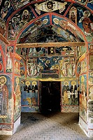12th century church of Assinou. Troodos Mountains region, Cyprus