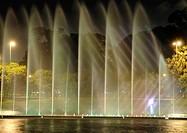 Ibirapuera Park, fountain, night, São Paulo, brazil