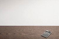 Calculator on desk (thumbnail)