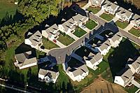 Housing development, aerial, Highpoint, NC, USA