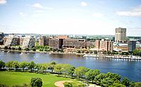 Charles River and skyline of Cambridge, Massachusetts