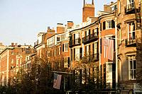 Rowhouses on Beacon Street, Boston, Massachusetts