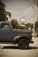 USA, Illinois, Route 66, Williamsville, Old Gas Station, GTRUCK
