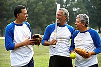 Multi_ethnic men with baseball gear
