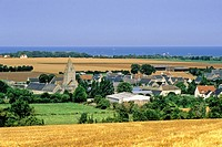 Small village close to the beaches where D_day started