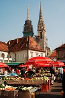 Croatia - Zagreb. Dolac market
