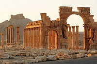 Syria - Palmyra. Ancient Palmyra. UNESCO World Heritage List, 1980. Triumphal Arch, 1st-2nd century AD