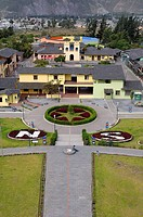 Ecuador _ Pichincha Province _ Quito. UNESCO World Heritage List, 1978. Mitad del Mundo. Ground line that marks the Equator