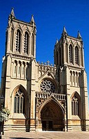 Low angle view of a cathedral, Bristol Cathedral, Bristol, Somerset, England