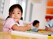 Young Girl in Preschool