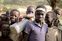 africa, kenya, kakuma refugees camp, sudanese children