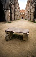 europe, italy, tuscany, chiusdino, san galgano abbey