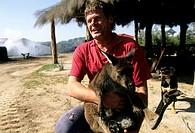 australia, kangaroo island, man with kangoo