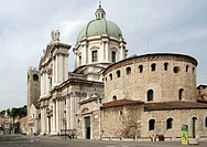 europe, italy, lombardia, brescia, new and old dome