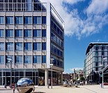 1 ST PAUL'S PLACE SHEFFIELD, 1 ST PAUL'S PLACE SHEFFIELD, LONDON, UK, ALLIES & MORRISON ARCHITECTS, EXTERIOR, SOUTH ELEVATION AND PUBLIC SQUARE SHEFFI...