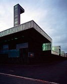 LESESARRE FOOTBALL STADIUM, BARAKALDO, BILBAO, SPAIN, EDUARDO ARROYO, EXTERIOR, PANORAMIC VIEW WITH EVENING LIGHT