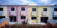 NEW ISLINGTON HOUSING DEVELOPMENT, MANCHESTER, GREATER MANCHESTER, UK, FAT ARCHITECTS, EXTERIOR, OVERALL EXTERIOR VIEW