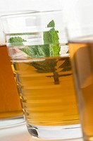 Close_up of glasses of herbal tea