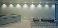 1 FINSBURY SQUARE, 1 FINSBURY SQUARE, LONDON, EC2 MOORGATE, UK, HORDEN CHERRY LEE ARCHITECTS, INTERIOR, RECEPTION / HIGHER VIEW /ART BY MARIJKE DE GOE...