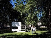 MICRO COMPACT HOME, UK, HORDEN CHERRY LEE ARCHITECTS, EXTERIOR, BERKELEY SQUARE WITH RICHARD HORDEN R