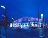 WEMBLEY ARENA, LONDON, UK, PYOTT DESIGN CONSULTANTS, EXTERIOR, EXTERIOR VIEW AT NIGHT