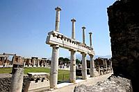 The Forum of Pompei. Campania. Italy