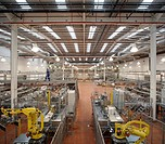 PROJECT ORANGE, BRIDGWATER, SOMMERSET, UK, REID ARCHITECTURE, INTERIOR, VIEW ACROSS FACTORY FLOOR