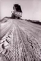 Lorry dumping sand